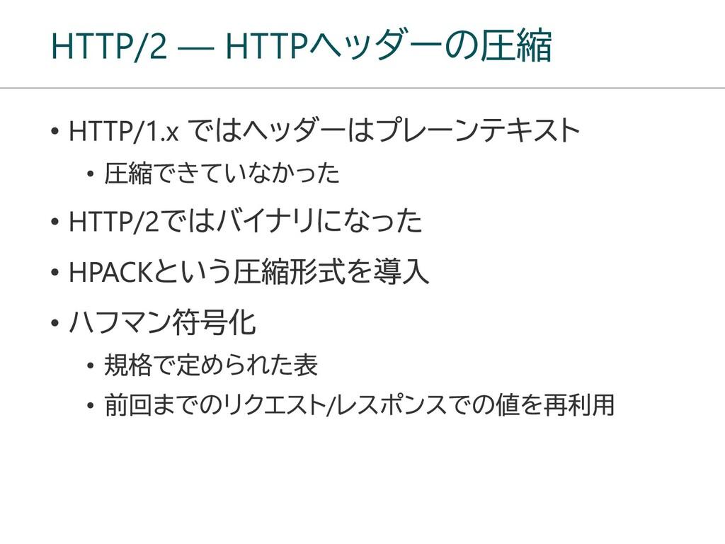 HTTP/2 ― HTTPヘッダーの圧縮