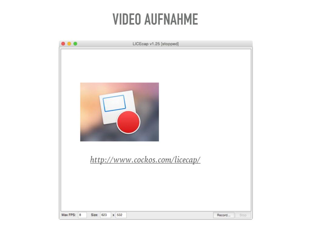 http://www.cockos.com/licecap/ VIDEO AUFNAHME