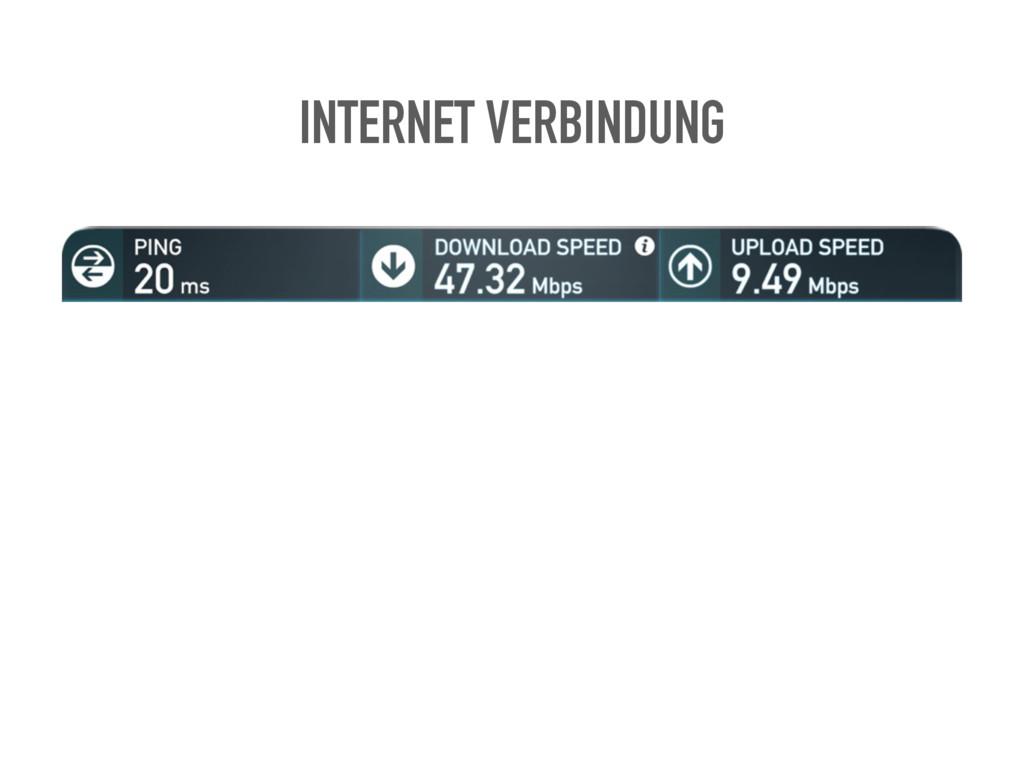 INTERNET VERBINDUNG