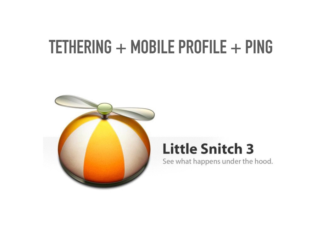 TETHERING + MOBILE PROFILE + PING