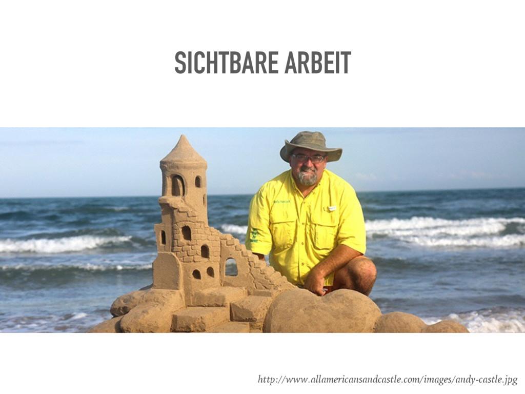 SICHTBARE ARBEIT http://www.allamericansandcast...