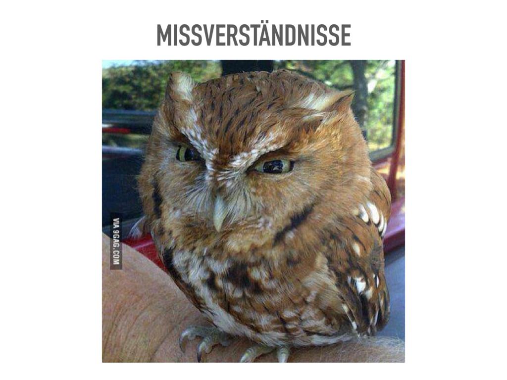 MISSVERSTÄNDNISSE