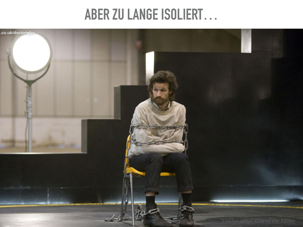 """ABER ZU LANGE ISOLIERT… """"Doctor Who"""" Day of the..."""