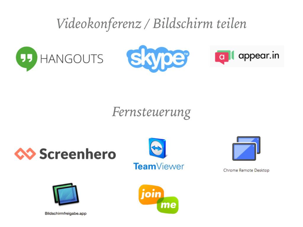 Videokonferenz / Bildschirm teilen Fernsteuerung