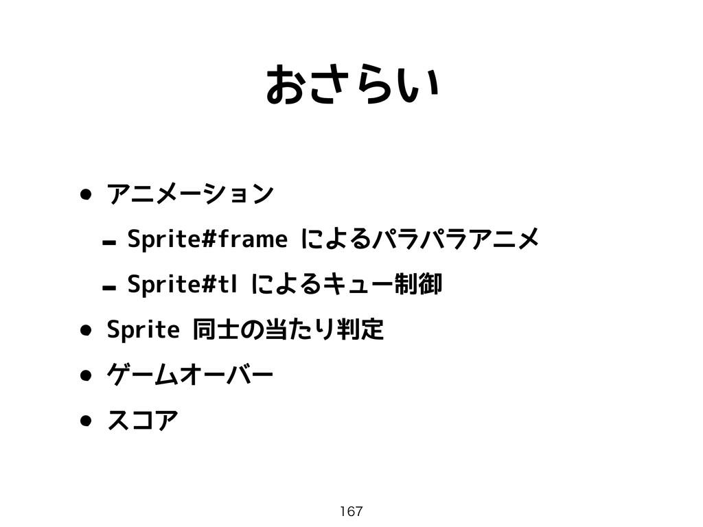 おさらい • アニメーション - Sprite#frame によるパラパラアニメ - Spri...