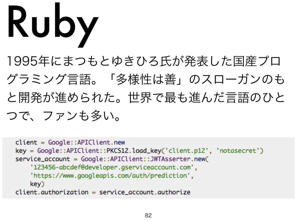 Ruby ʹ·ͭͱΏ͖ͻΖࢯ͕ൃදͨ͠ࠃϓϩ άϥϛϯάݴޠɻʮଟ༷ੑળʯͷε...