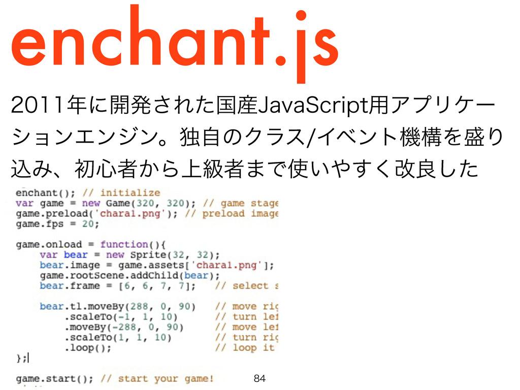 enchant.js ʹ։ൃ͞Εͨࠃ+BWB4DSJQU༻ΞϓϦέʔ γϣϯΤϯδ...