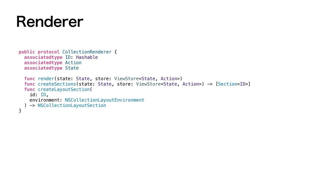 3FOEFSFS public protocol CollectionRenderer {  ...