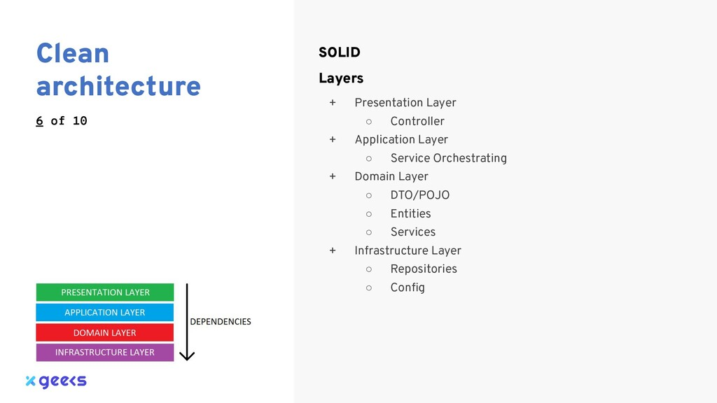Clean architecture 6 of 10 SOLID Layers + Prese...