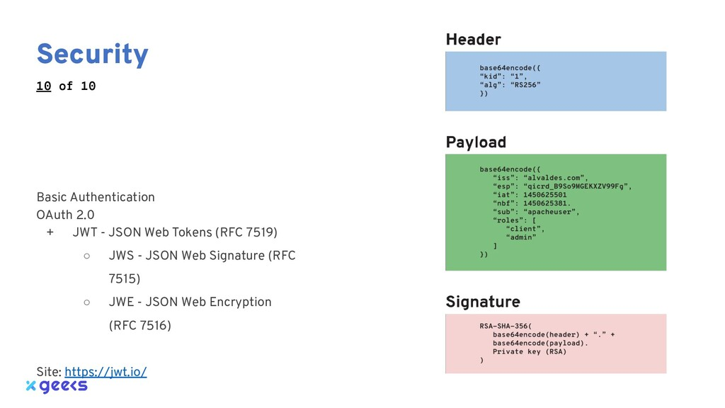 Security Basic Authentication OAuth 2.0 + JWT -...