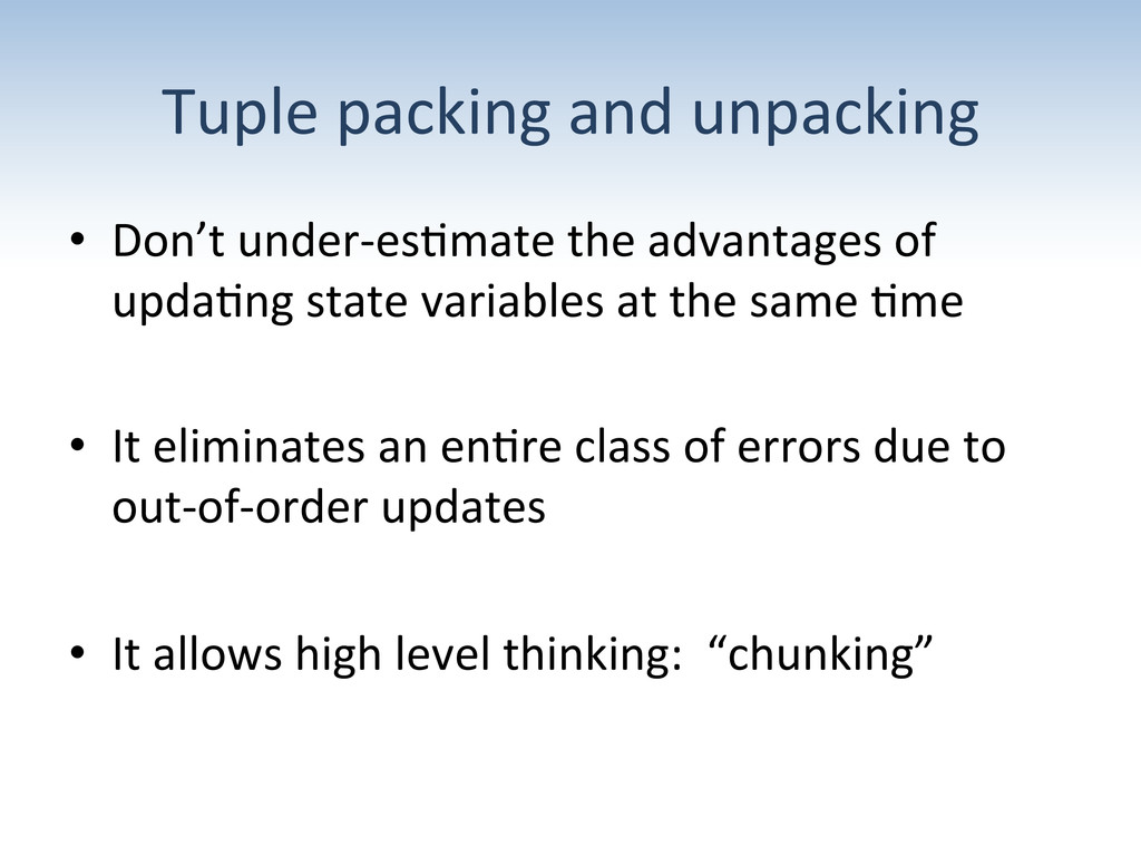 Tuple packing and unpacking  • Don...