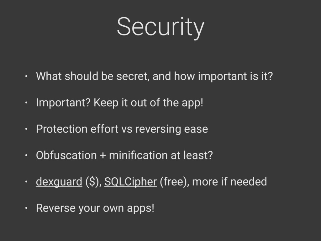 Security • What should be secret, and how impor...