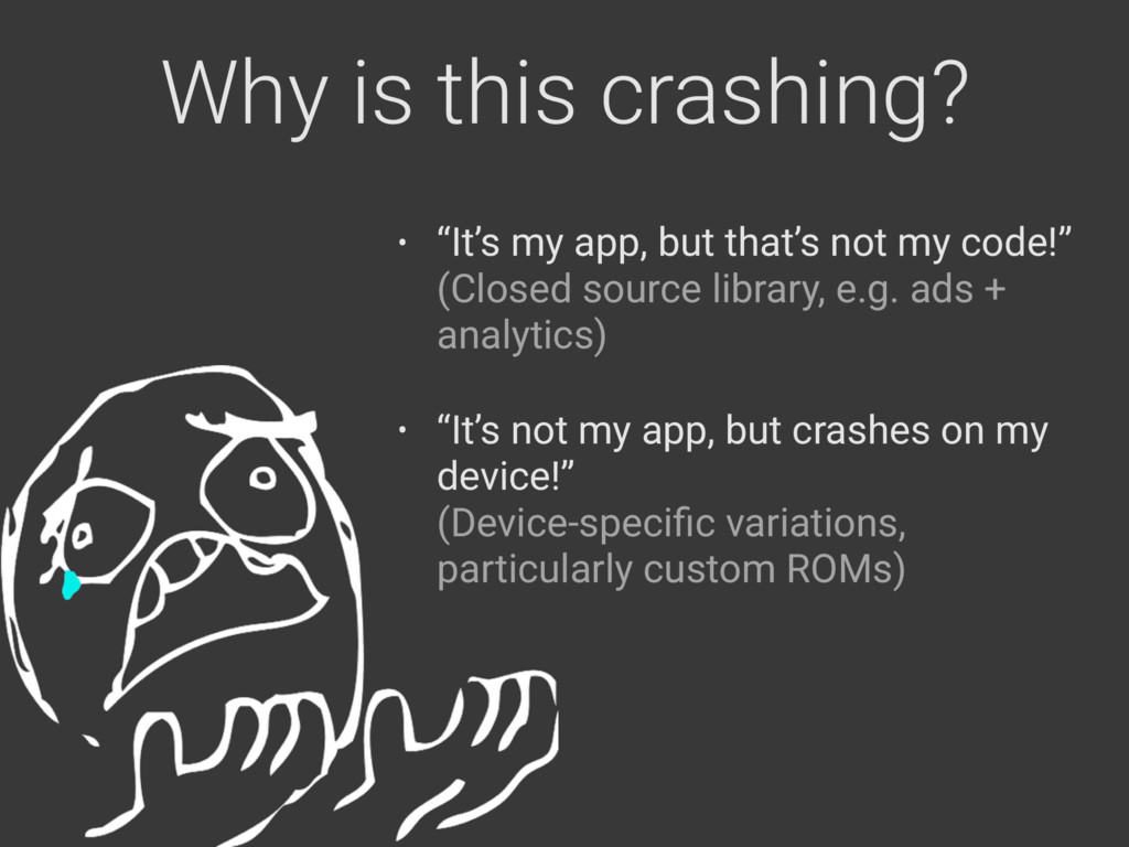 """Why is this crashing? • """"It's my app, but that'..."""