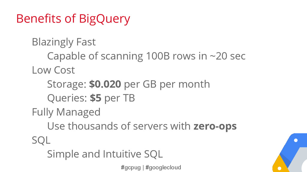 #gcpug | #googlecloud Blazingly Fast Capable of...