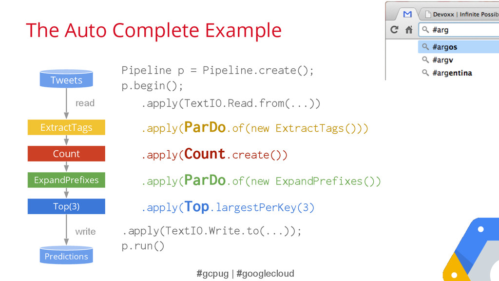 #gcpug | #googlecloud The Auto Complete Example...