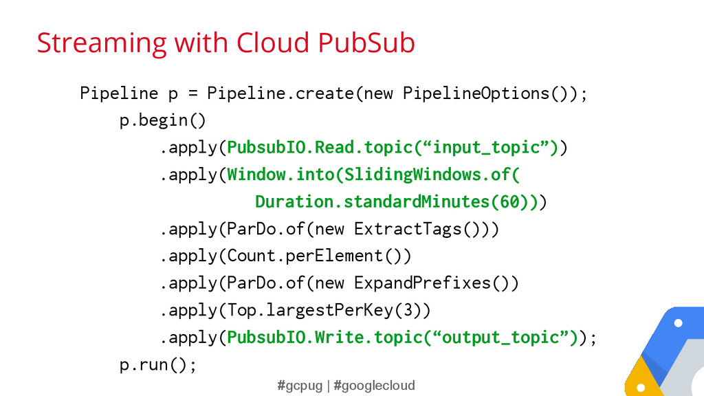 #gcpug | #googlecloud Streaming with Cloud PubS...