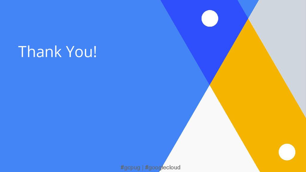 #gcpug | #googlecloud Thank You!