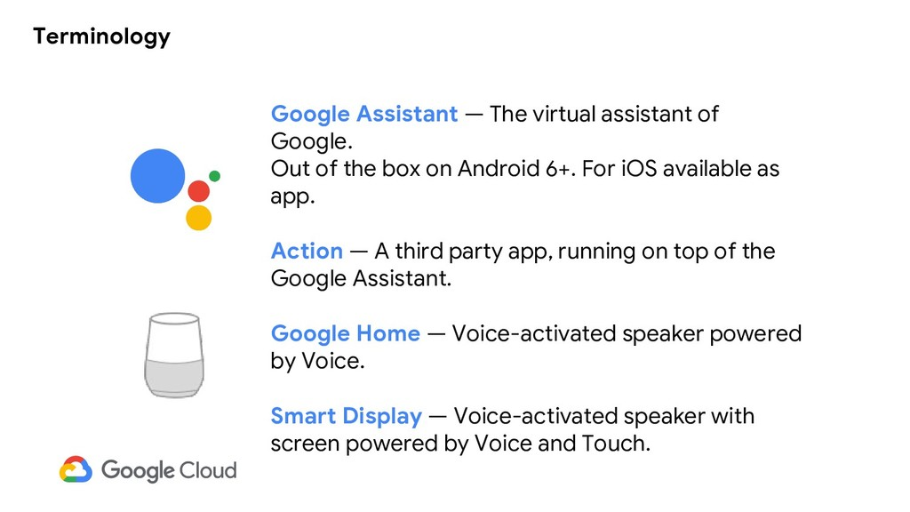 Terminology Google Assistant — The virtual assi...