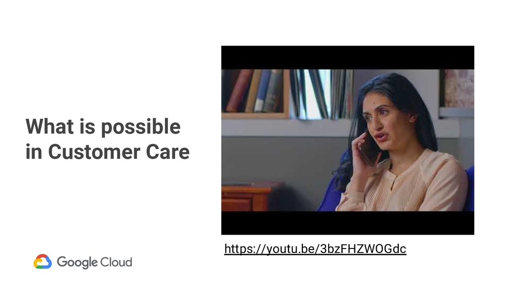 What is possible in Customer Care https://youtu...