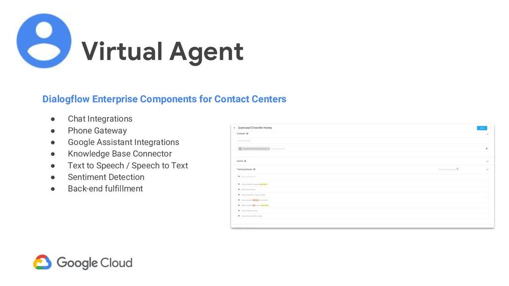 Virtual Agent Dialogflow Enterprise Components ...