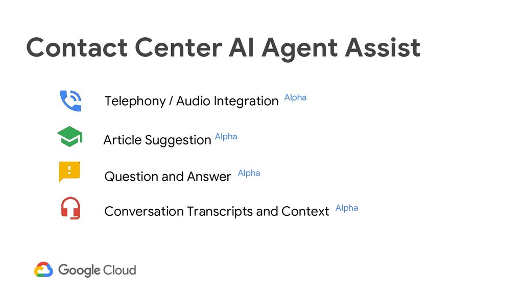 Contact Center AI Agent Assist Telephony / Audi...