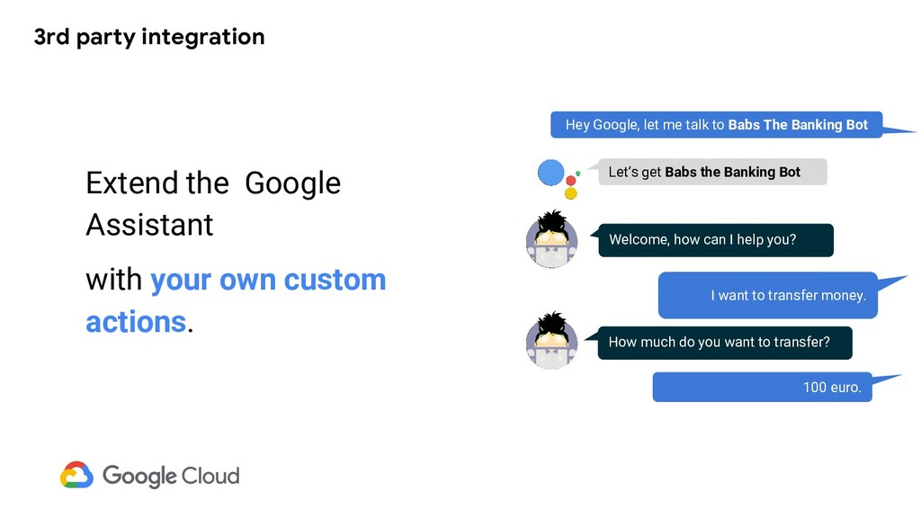 3rd party integration Extend the Google Assista...