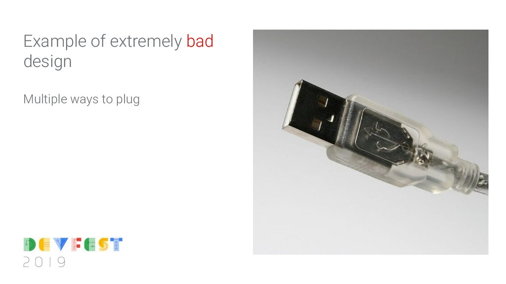 Multiple ways to plug Example of extremely bad ...