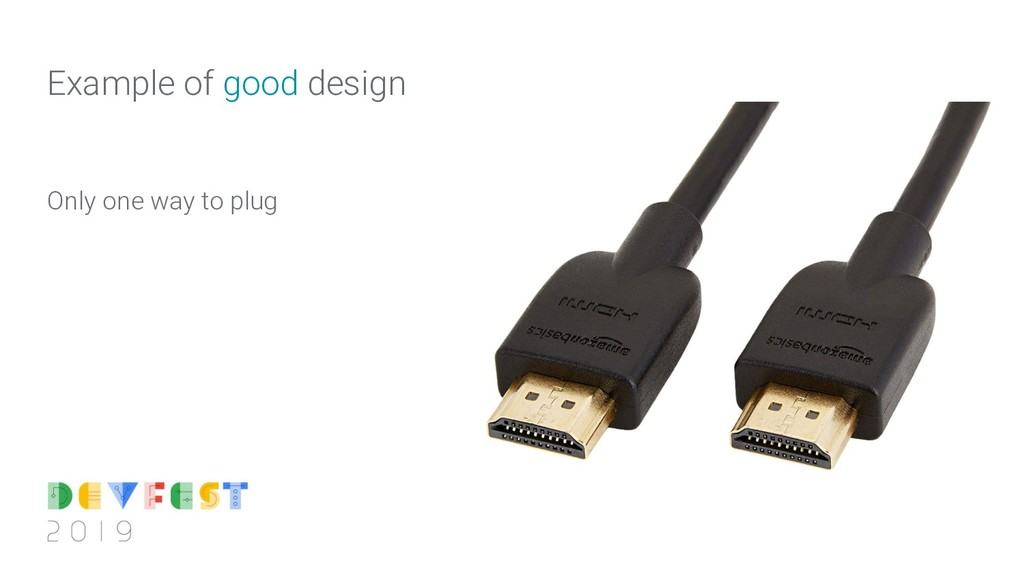 Only one way to plug Example of good design