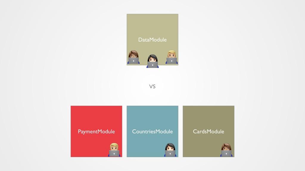 CountriesModule PaymentModule CardsModule DataM...