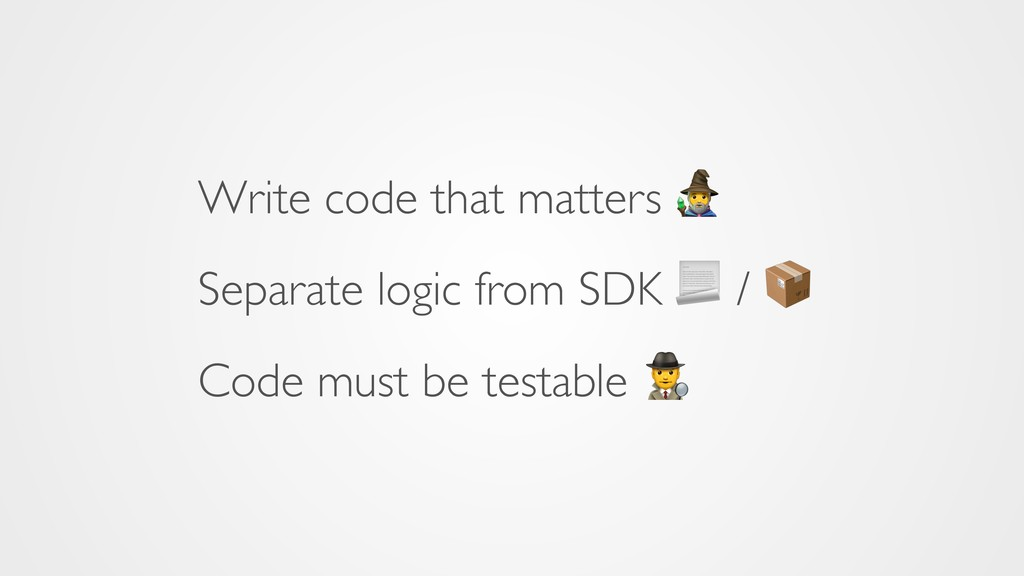 Write code that matters 8 Separate logic from S...