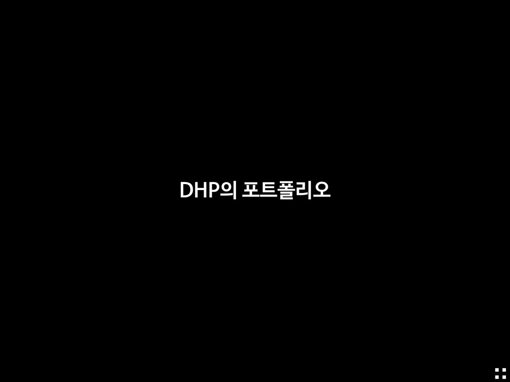 DHP의 포트폴리오