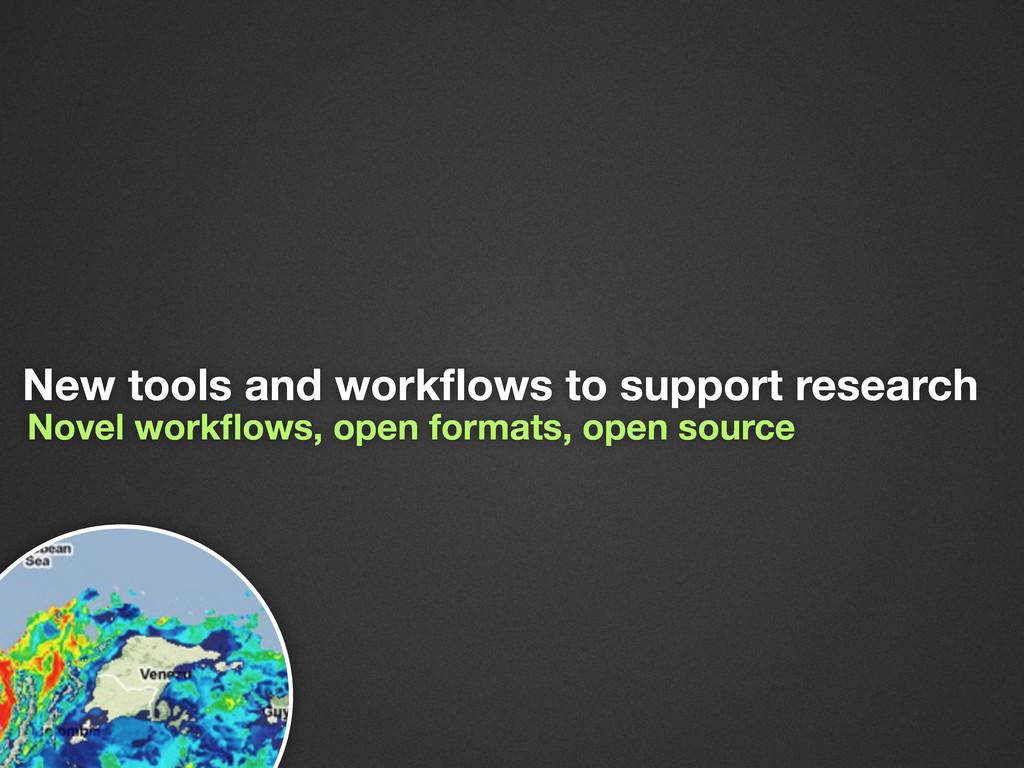 Novel workflows, open formats, open source New t...