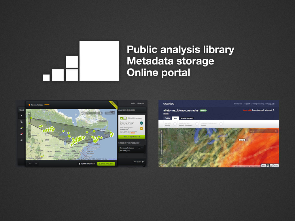 Public analysis library Metadata storage Online...