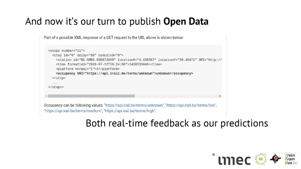 And now it's our turn to publish Open Data Both...