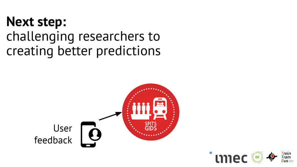 User feedback Next step: challenging researcher...