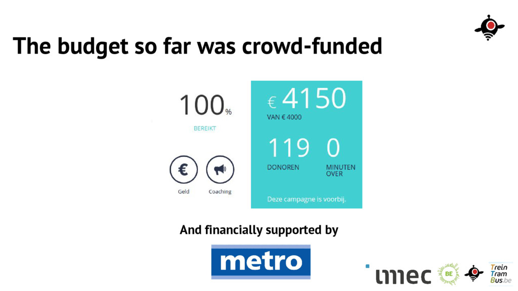 The budget so far was crowd-funded And financia...