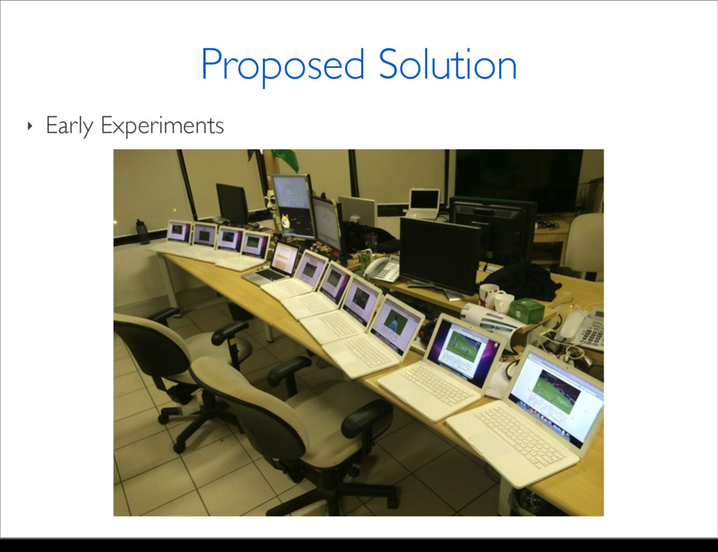‣ Early Experiments Proposed Solution Monday, M...