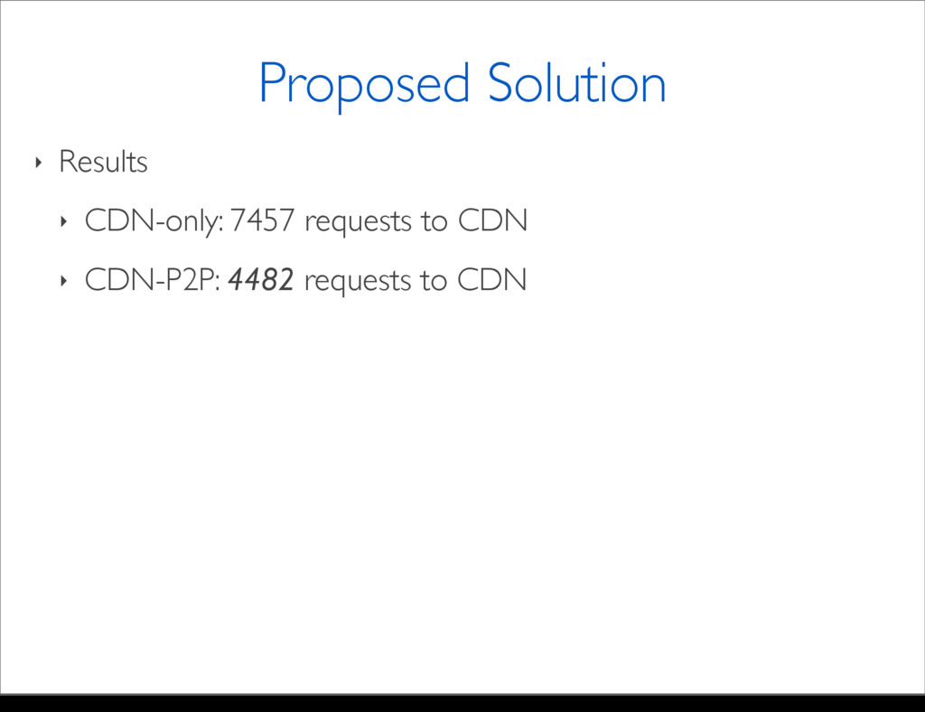 ‣ Results ‣ CDN-only: 7457 requests to CDN ‣ CD...