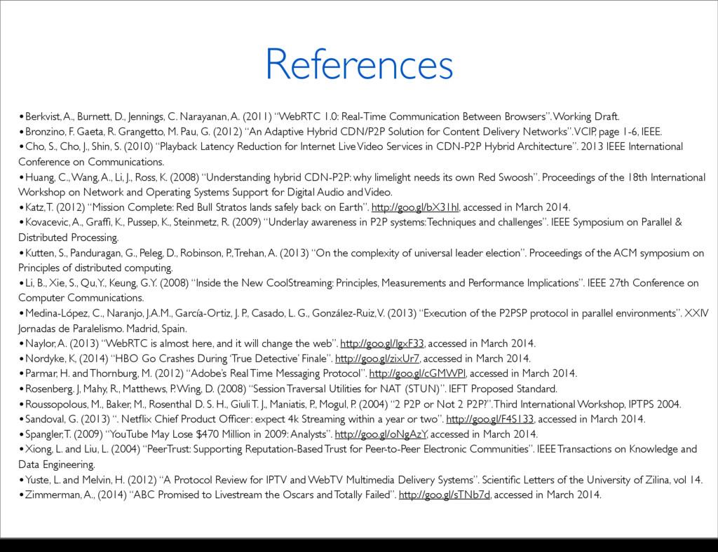 References •Berkvist, A., Burnett, D., Jennings...