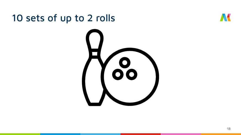 10 sets of up to 2 rolls 18