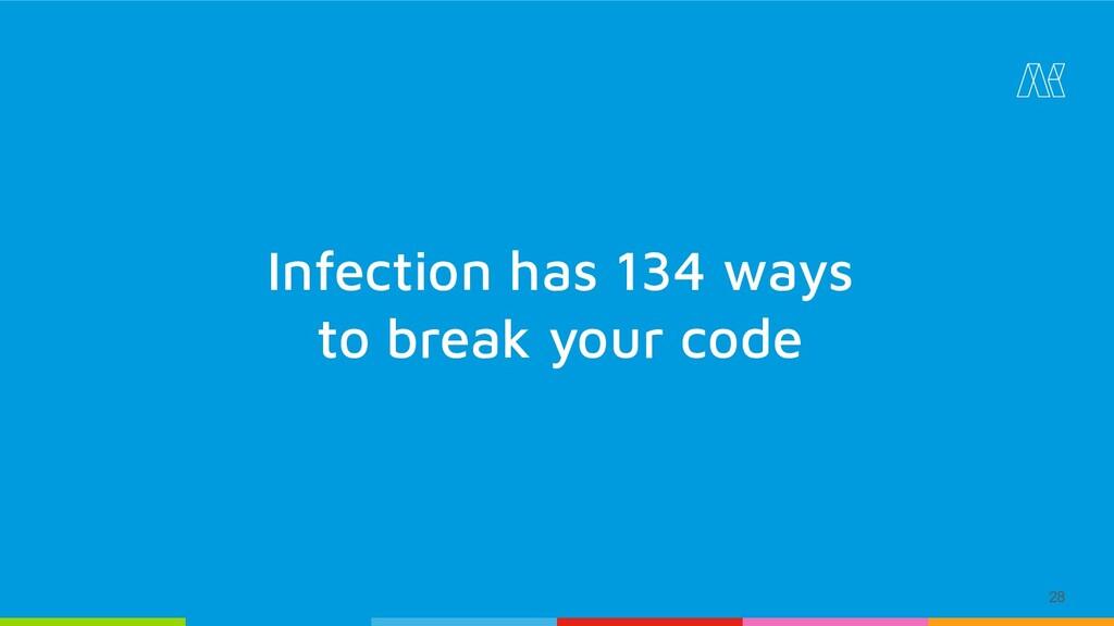 28 Infection has 134 ways to break your code