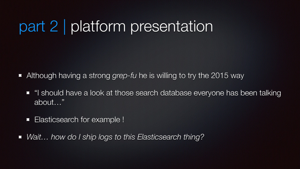 part 2 | platform presentation Although having ...