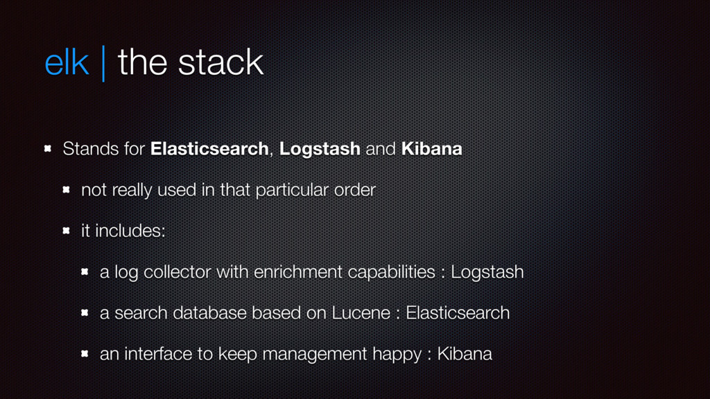 elk | the stack Stands for Elasticsearch, Logst...