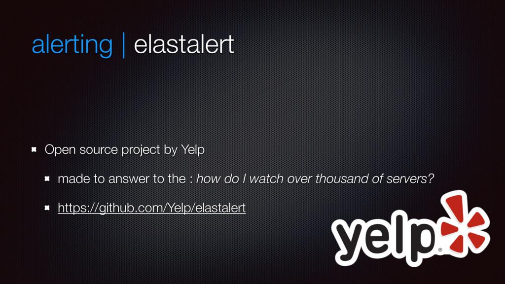 alerting | elastalert Open source project by Ye...