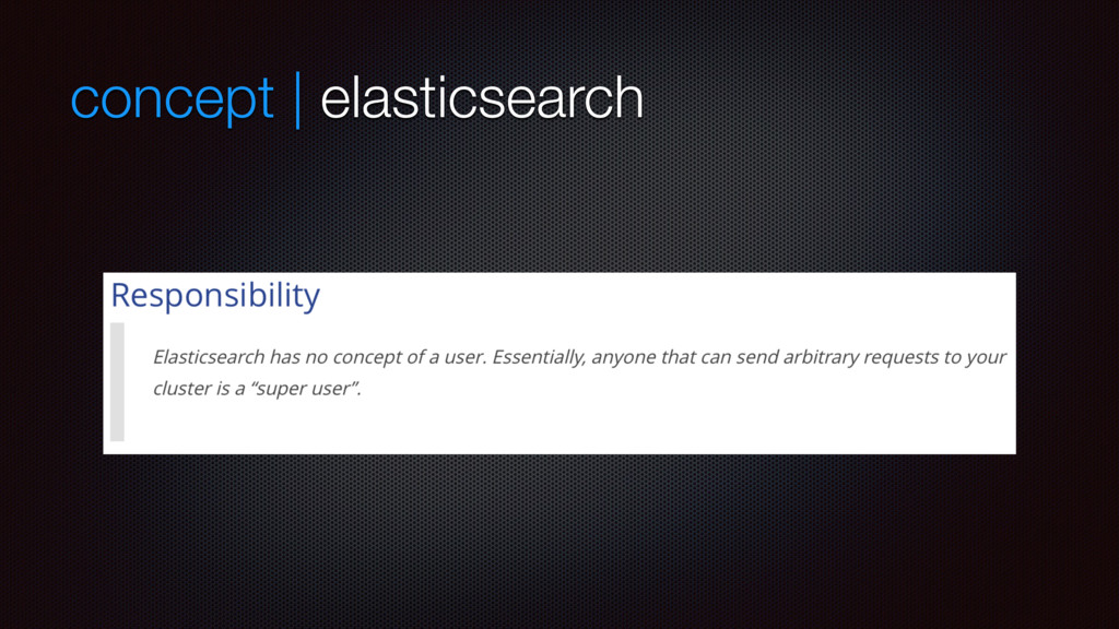 concept | elasticsearch