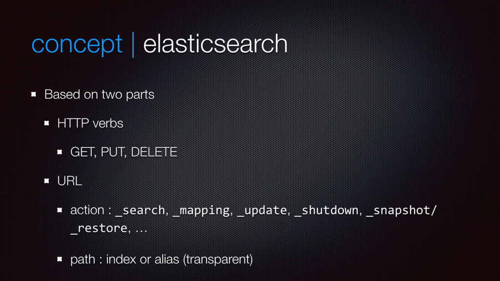 concept | elasticsearch Based on two parts HTTP...