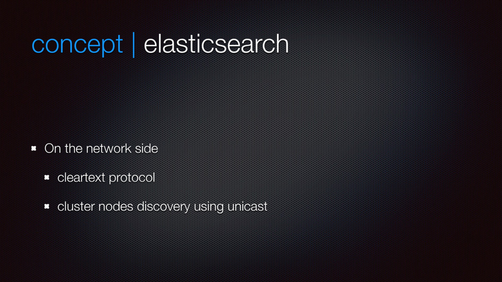concept | elasticsearch On the network side cle...