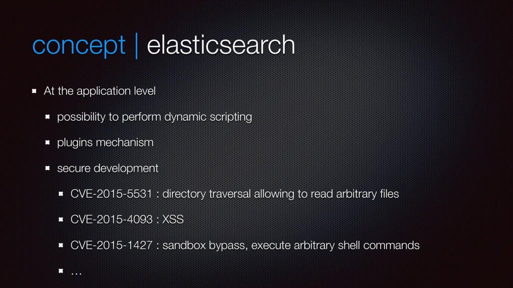 concept | elasticsearch At the application leve...