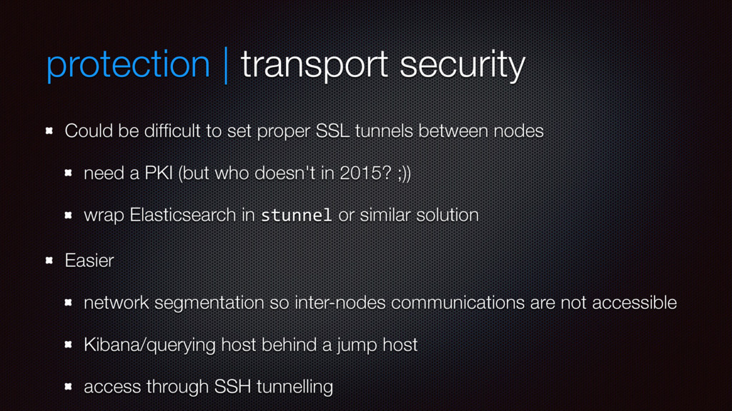 protection | transport security Could be difficu...