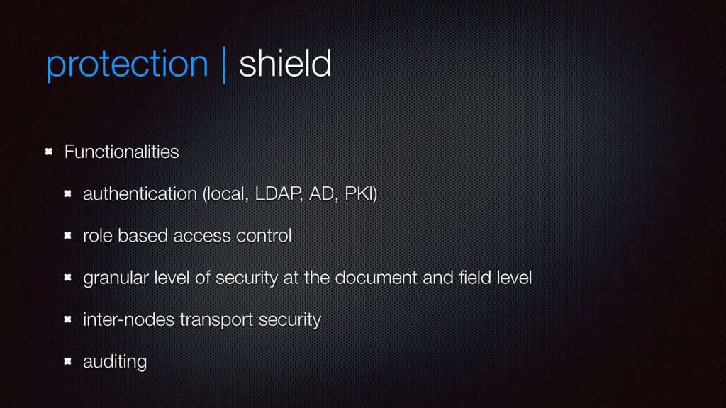 protection | shield Functionalities authenticat...